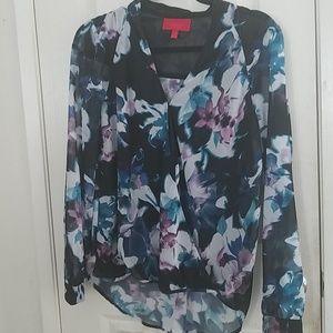Floral wrap blouse